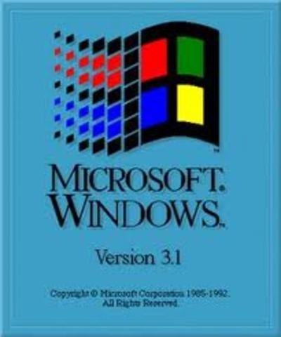 A Microsoft lança o sistema operacional Windows versão 3.1