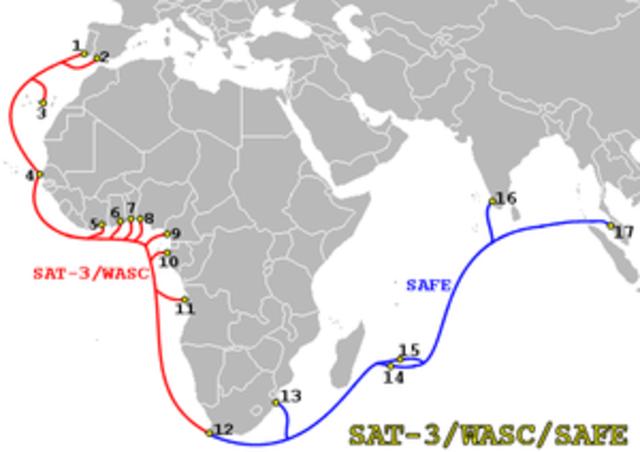 El primer enlace transoceánico con fibra óptica