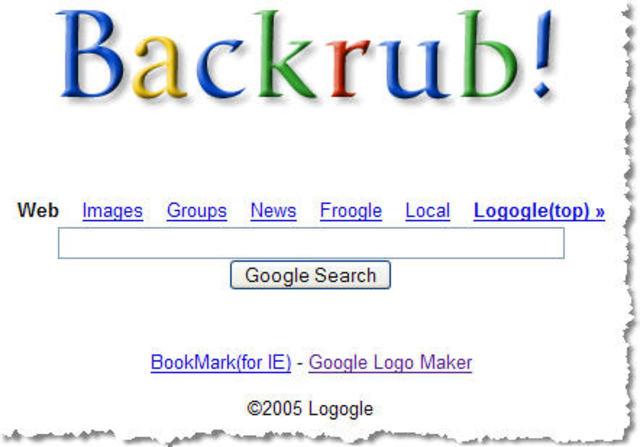 Nombre original de Google era BackRub