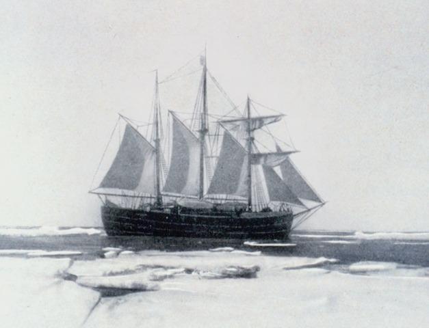 Amundsen's Fram docked at marderia in Spain