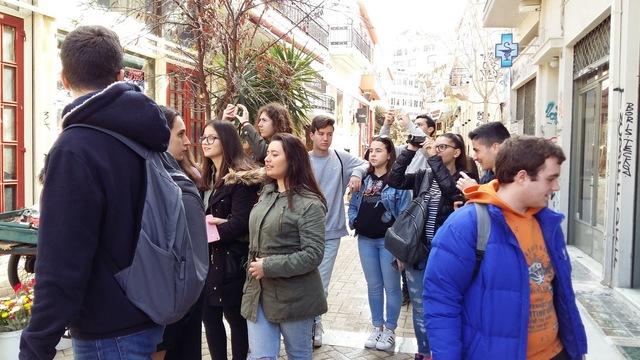 Επίσκεψη της Ομάδας Περιβαλλοντικής Εκπαίδευσης με θέμα το αστικό περιβάλλον στη συνοικία του Ψυρρή