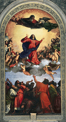 Titian painted The Assumption of the Virgin