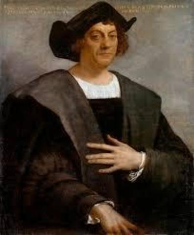 Christopher Columbus reaches the New World