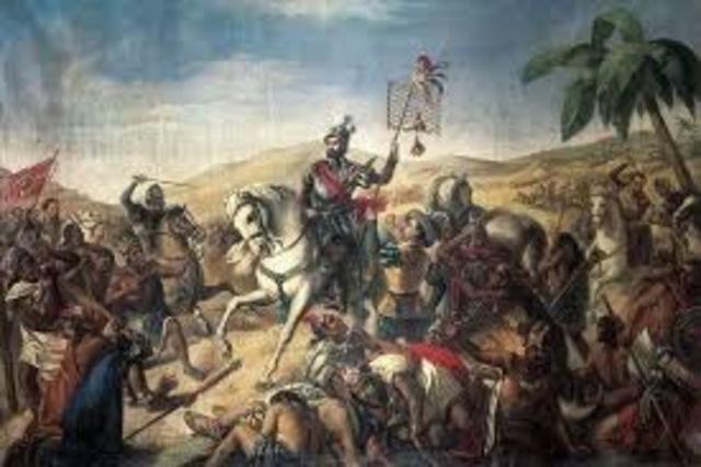 Hernan Cortes invades Mexico