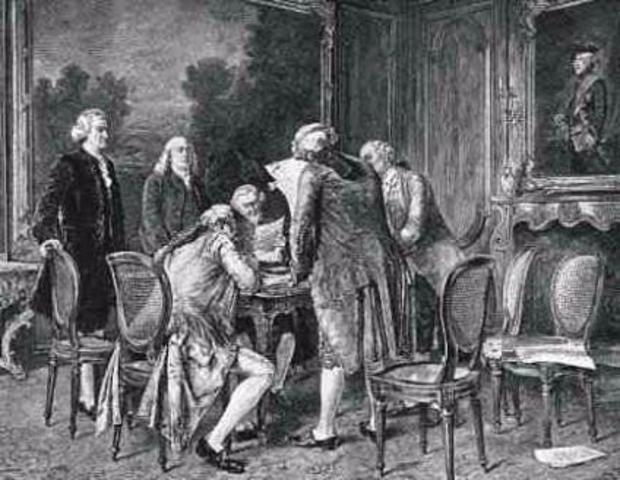 The Signing of the Treaty of Paris