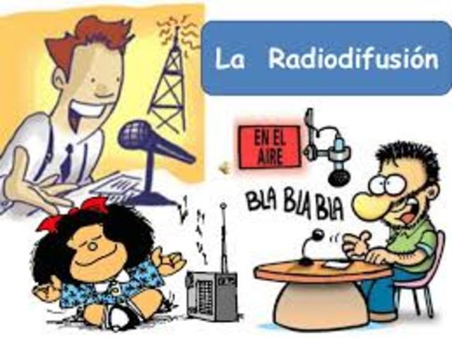 La radiodifusión, radio comercial.