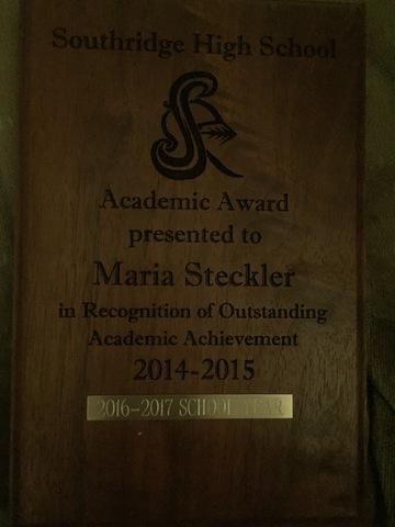 SHS Academic Awards