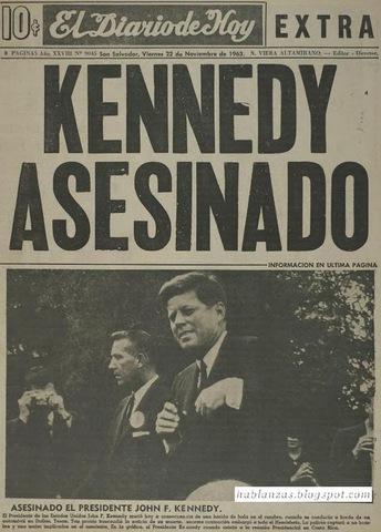 Mundo: Muerte de John F. Kennedy