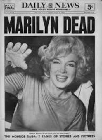 Mundo: Muere Marilyn Monroe