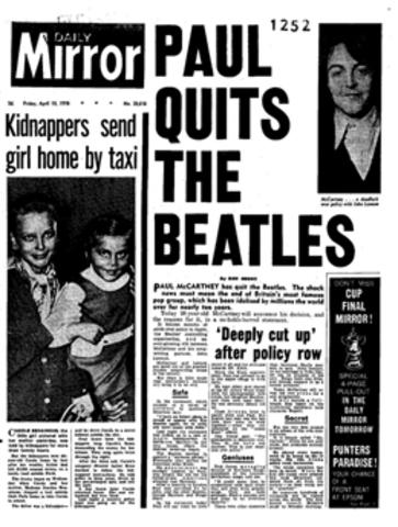 Mundo: Separación de Los Beatles