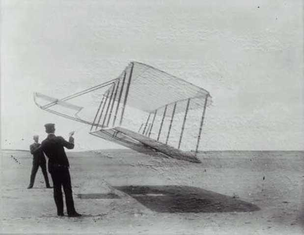 Orville and Wilbur Wright Invent Huge Kite