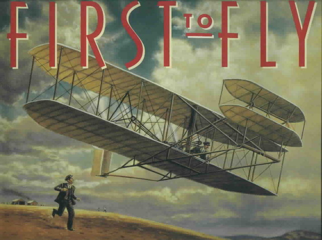 Wright Brothers Become First People to Fly Airplane