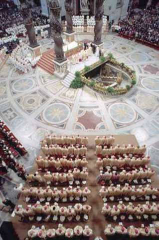 First stone laid down for St. Peter's Basilica