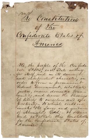 Confederate Constitution Adopted