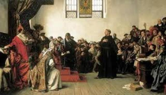 Luther was excommunicated from the church