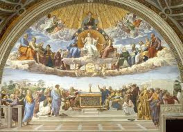 Raphael Paints the Rooms of the Vatican Palace