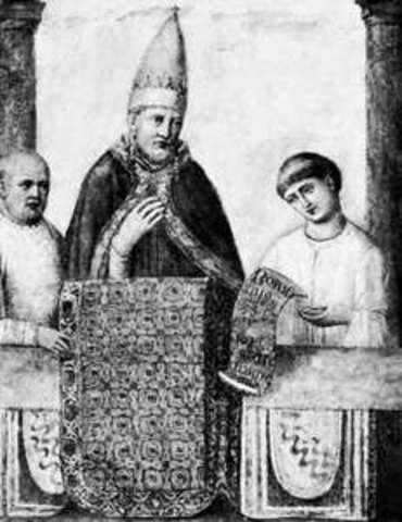 Pope Boniface issued the bull Clericis Laicos