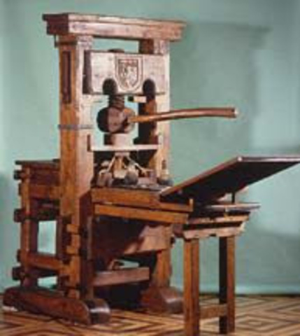 Creation of the Printing Press (Inventions)