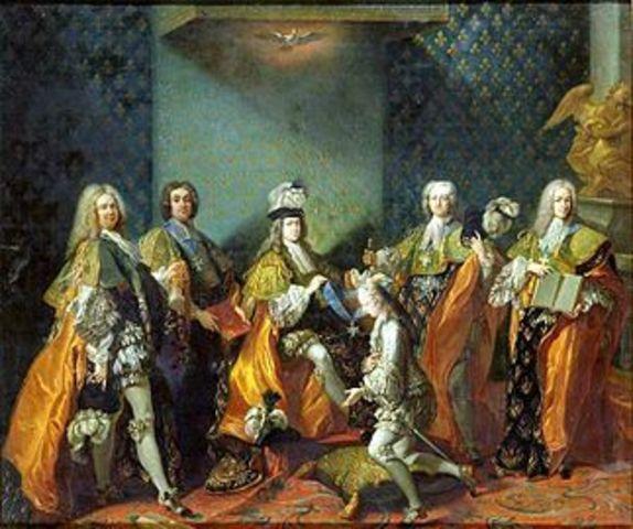Nombramiento de Georges Louis Leclerc como Conde de Buffon.