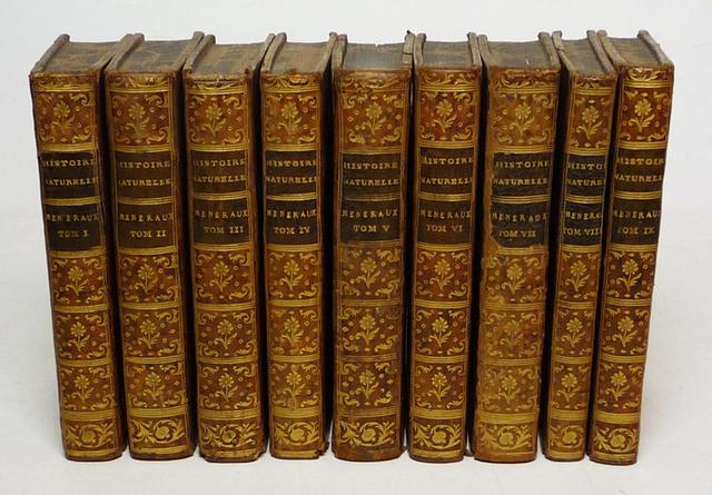 """Publicación de los tomos restandes de """"L'Histoire Naturelle""""  del conde de Buffon."""