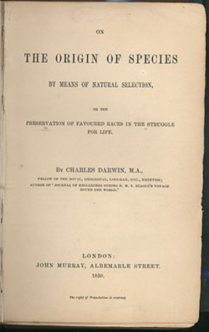 Charles Darwin: The Origin of Species by Means of Natural Selection