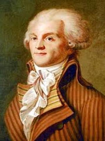 Robespierre blir henrettet