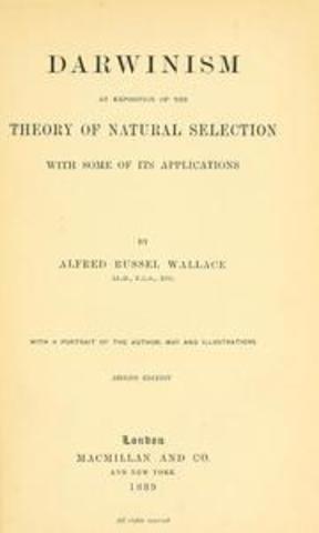Alfred Russel Wallace escribió Darwinism.