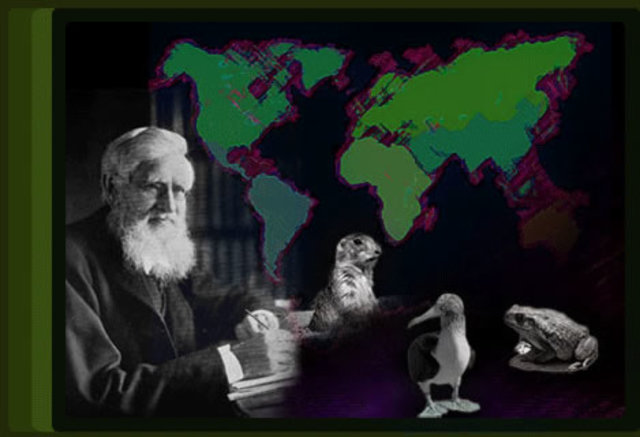 """Alfred Russel Wallace publica su obra """"La distribución geográfica de los animales""""."""