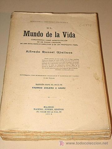 """Alfred Russel Wallace publica su obra """"El mundo de la vida""""."""