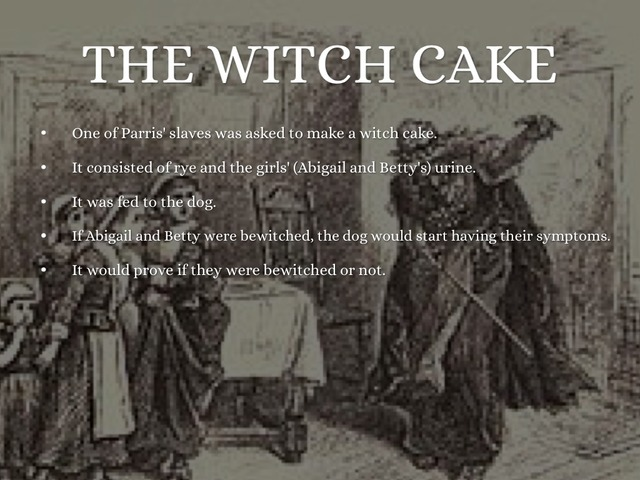 Mary Sibley Suggests a Witch Cake