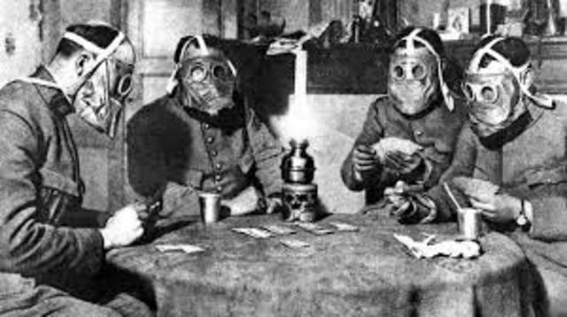 Los alemanes atacan con gases tóxicos en Bélgica