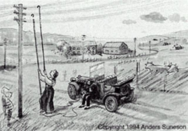El Primer Teléfono en un Automovil