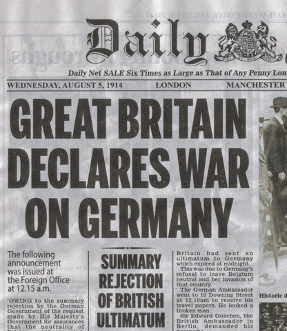 Inglaterra entra a la guerra
