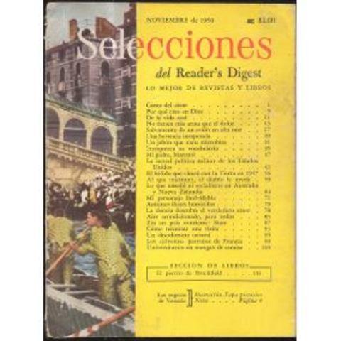 """Primer edición de revista """"Selecciones de Readers Digest"""" como hoy la conocemos."""