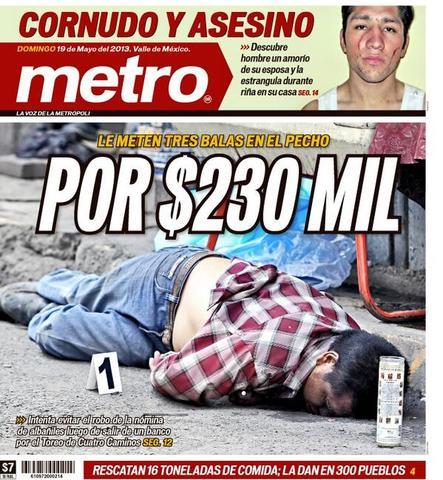 """Se lanzan en el D.F. """"El metro"""" y """"El extra"""" en formato tabloide."""