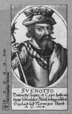 Svend Tveskæg bliver konge af Danmark