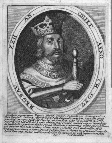 Knud den store bliver konge af England