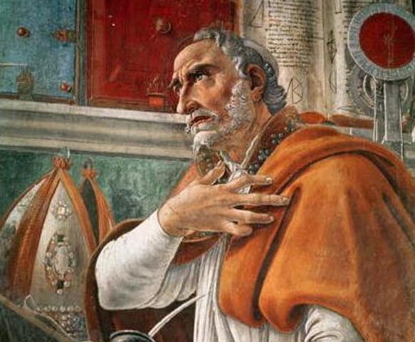 San Agustín se convirtió al cristianismo