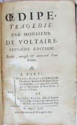 Voltaire udgiver Œdipe