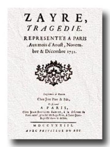 Voltaire udgiver Zaïre