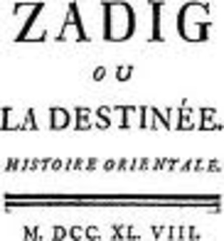 Voltaire udgiver Zadig