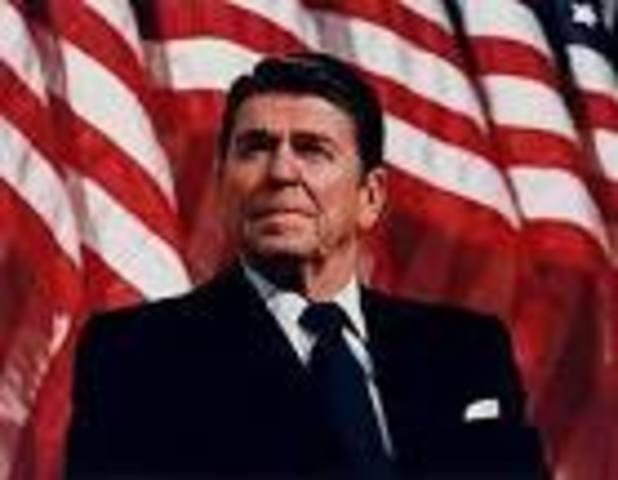 us president/ Ronald Reagan