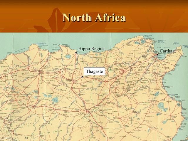 San Agustín se traslada a Tagaste