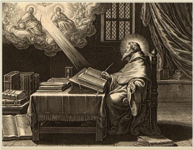 """Escribió """"De libero arbitrio"""", """"De vera religione"""" y """"De Magistro"""""""
