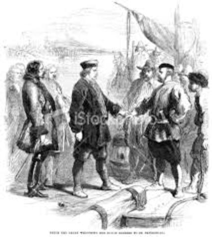 Arrival of Dutch traders