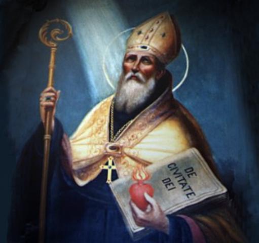 """San Agustín escribió """"La ciudad de Dios"""""""