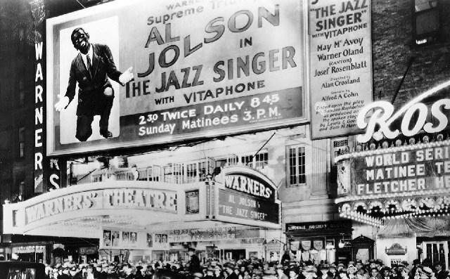 Película El cantante de jazz de Warner Brothers