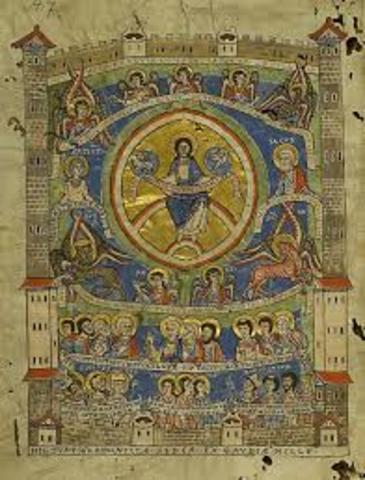 """""""De civitate Dei"""" (22 libros, terminada en el 426)."""