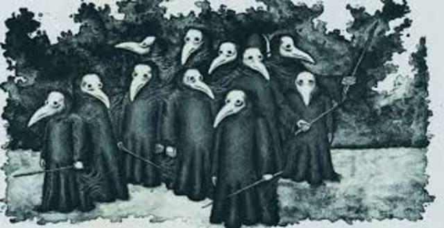 La peste negra azota a Europa