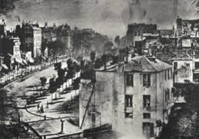 El lanzamiento se produjo de 1838 a 1839. Daguerre